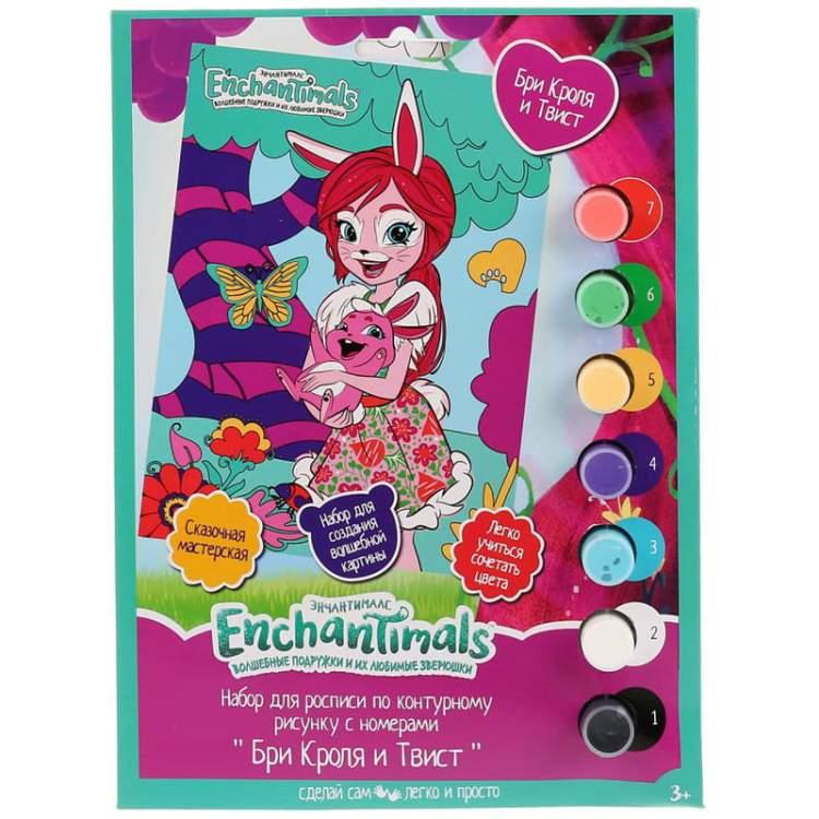 """Купить Раскраска по номерам MultiArt """"Enchantimals"""", 10 ..."""