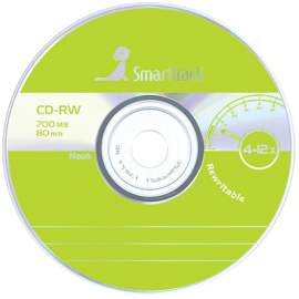 Диск CD-RW 700Mb Smart Track 4-12x Cake Box 1шт (50шт/бокс),ST000200