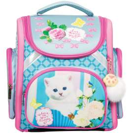 "Ранец с наполнением Berlingo Ultra Compact""Lovely kitty""37*30*17см,1 отд.,анатомич. спинка,RU038051"