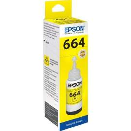Чернила Epson L100/ 110// 200/ 210/ 300/ 355/ 550/ 555 (O) C13T66444A,yellow, 70 ml